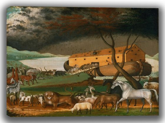 Hicks, Edward: Noah's Ark. Fine Art Canvas. Sizes: A4/A3/A2/A1 (00149)